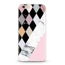 "Load image into Gallery viewer, ""Marble & Mosaic"" Clear iPhone Case"