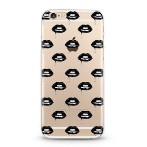 """Lips"" Clear iPhone Case"