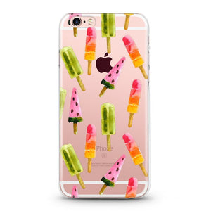 """Popsicle"" Clear iPhone Case"