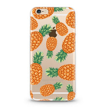 "Load image into Gallery viewer, ""Pineapples"" Clear iPhone Case"