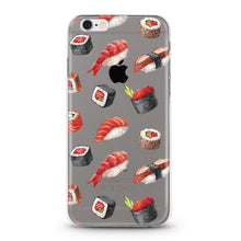"Load image into Gallery viewer, ""Sushi"" Clear iPhone Case"
