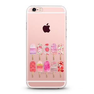 """Ice Cream"" Clear iPhone Case"