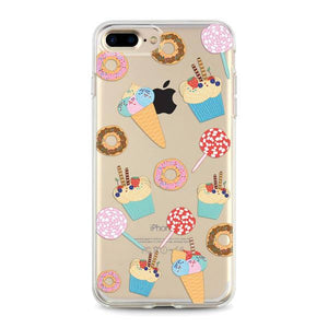 """Ice Cream & Donuts"" Clear iPhone Case"