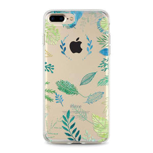 """Tropical Leaves"" Clear iPhone Case"