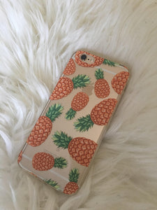 """Pineapples"" Clear iPhone Case"