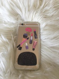 """Make up Purse"" Clear iPhone Case"