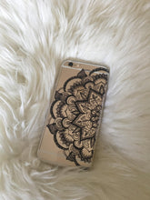 "Load image into Gallery viewer, ""Mandala Black"" Clear iPhone Case"