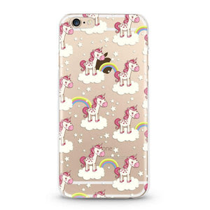 """Rainbows & Unicorns"" Clear iPhone 6/6s Case"