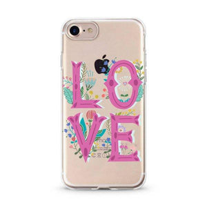 """Love Flower Power"" Clear iPhone Case"