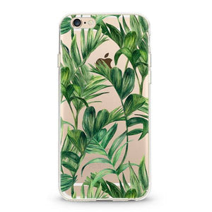 """Banana Leaves"" iPhone Soft Clear Case"