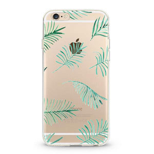 """Palm Leaves"" Clear iPhone Case"