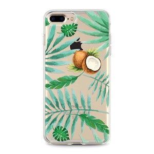 """Leaves & Coconut"" Clear iPhone Case"