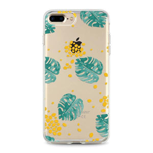 """Monstera Leaves"" Clear iPhone Case"