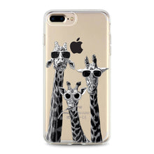 "Load image into Gallery viewer, ""Giraffes"" Clear iPhone Case"
