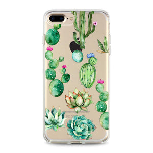"""Cactus Flowers"" Clear iPhone Case"