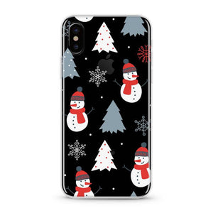 """Christmas Snow Man"" iPhone Clear Case"
