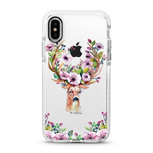 Reindeer & Flowers iPhone Case - Hoola Boutique