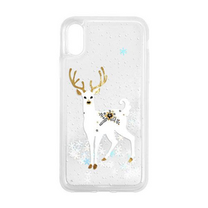 """Reindeer and Snow"" Clear iPhone case"