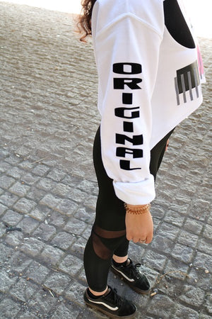 Oxymoron Crew Neck Crop Top