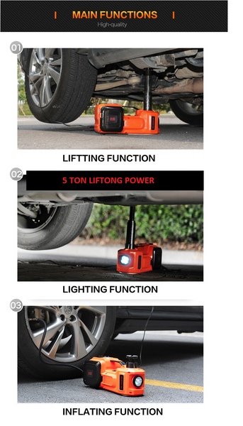 3in1 Car Electric jack