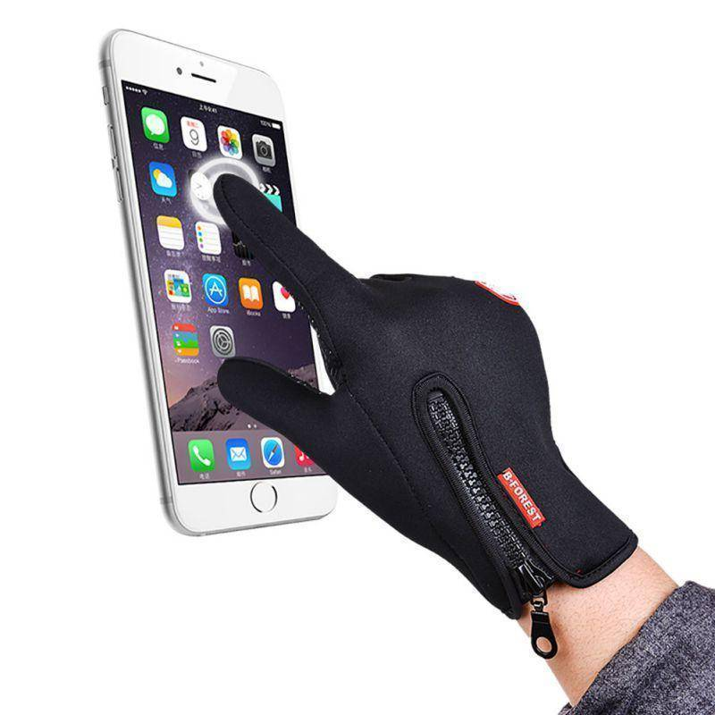 Waterproof Winter Warm Touch Screen Gloves with Grip