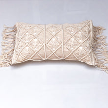 Load image into Gallery viewer, Macrame Lumbar Cushion