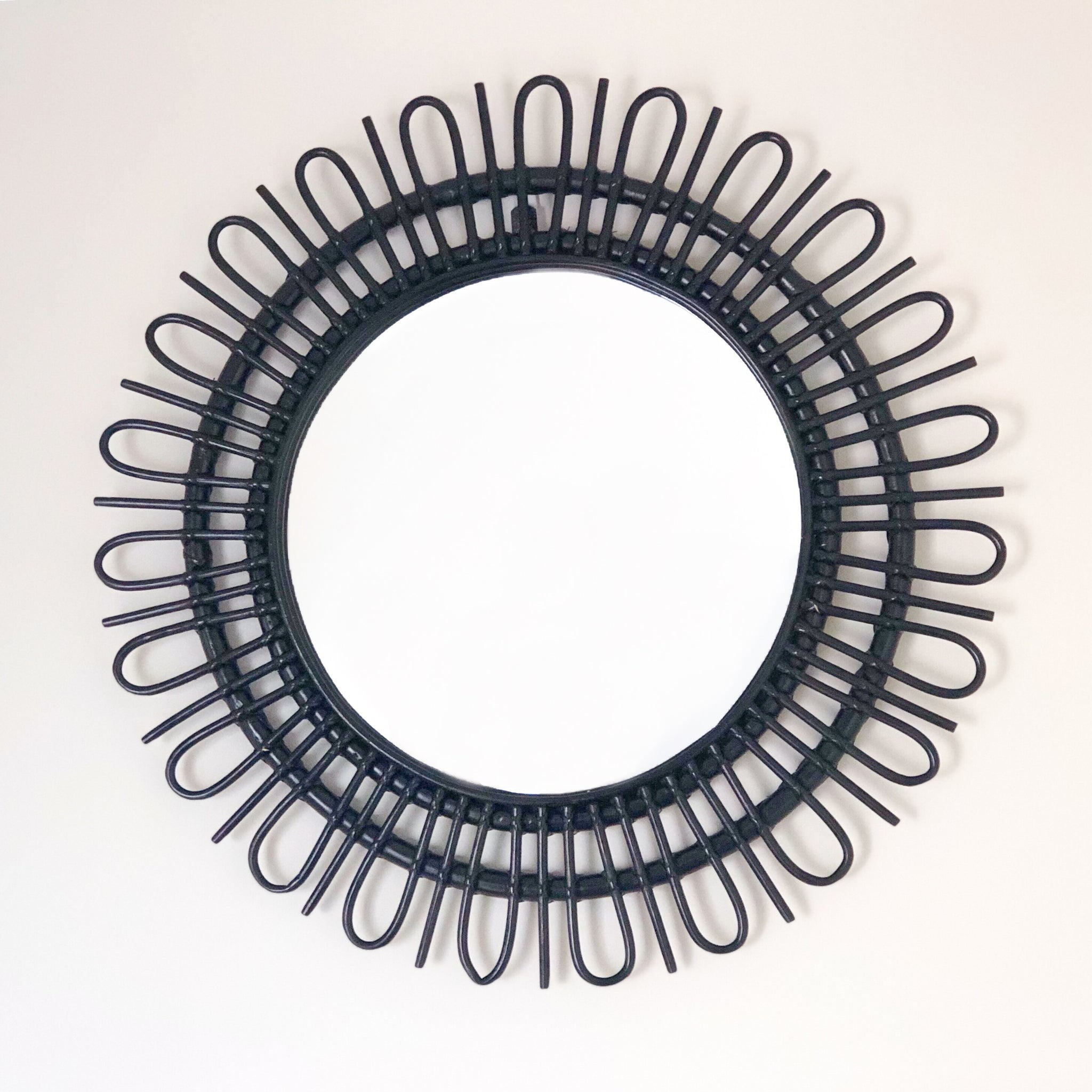 Rattan Flower Mirror Nook Lifestyle And Home