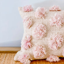 Load image into Gallery viewer, Marshmallow Pom Pom Cushion
