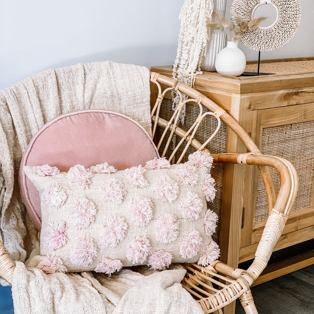 Marshmallow Pom Pom Cushion