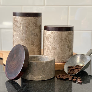 Stone Canisters (Set of 3)