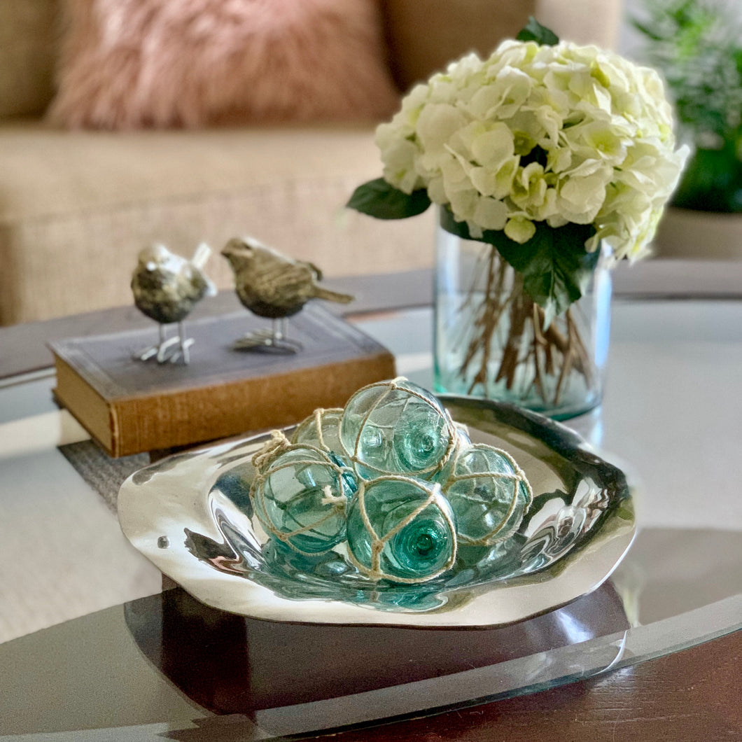 Silver Round Rippled Bowl