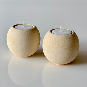 Merapi Volcanic Stone Tea Light Holders (Set of 2)