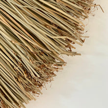 Load image into Gallery viewer, Close up of seagrass wall hanging to show the authentic nature of the product.