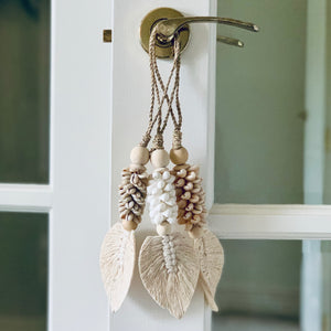Macrame Shell Leaf Tassel (Short)