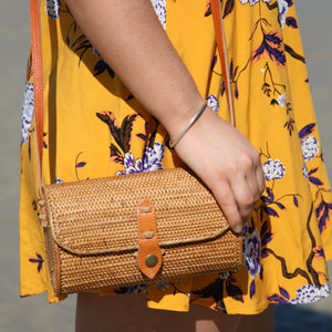 Monica Rattan Crossbody Bag