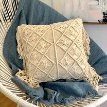 Load image into Gallery viewer, Macrame Square Cushion