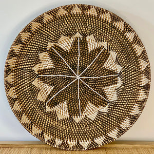 Rattan Tribal Lipped Edge Plate