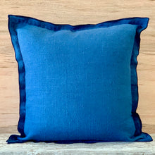 Load image into Gallery viewer, Navy Stitched Cushion
