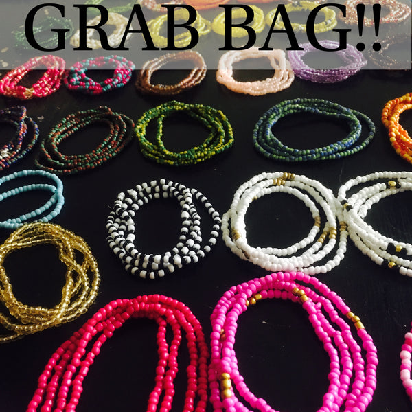 GRAB BAG !!  3 Mixed Waist Beads Sets