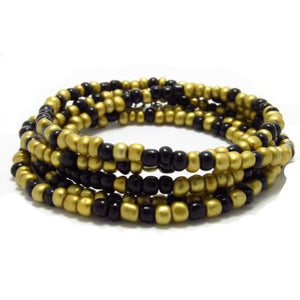 Mixed Gold and Black Waist Beads