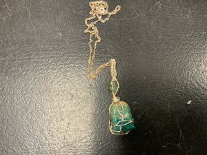 Wire wrapped chrysocolla nk