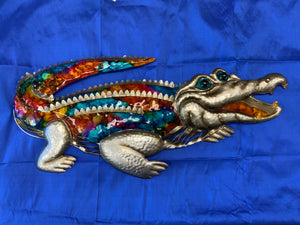 Alligator colorful wall art