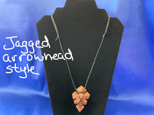 Fancy stone carved arrowhead necklace