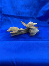 Load image into Gallery viewer, Wooden turtle on mushroom base