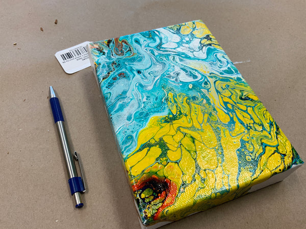 Light blue n yellow pour by SB