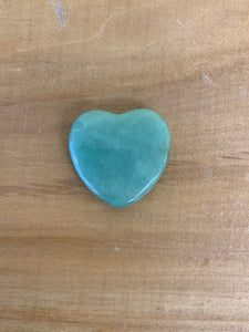 Gemstone heart flat