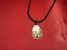 Load image into Gallery viewer, Shell necklace with black cord