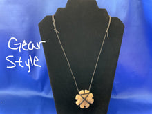 Load image into Gallery viewer, Fancy stone carved arrowhead necklace