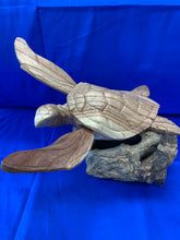 Load image into Gallery viewer, Wooden turtle sculpture 8""