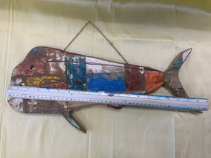 Recycled boat wood carving LG